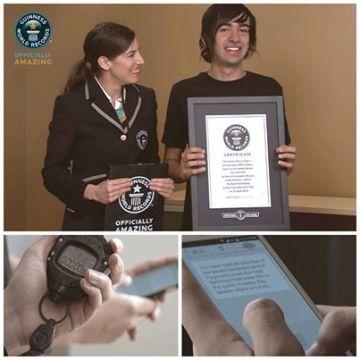 fleksy clavier virtuel record